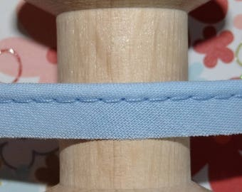 Blue piping sold by the yard