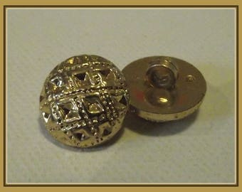 2 buttons 14 mm decor gold embossed shank button sewing notions 0.55 inch 1.4 cm