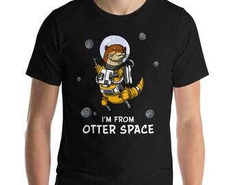 Otter Space - Space Otter Shirt - Cute Otter Shirt - Funny Otter Shirt - Otter Pun - Otter Clothes - Mens Otter - Otter Lover - Otter Gift