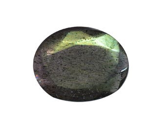 Labradorite Natural Labradorite Rose Cut Polki Both Side Faceted 3.10 cts 10x14 mm For Designer Jewelry 3934