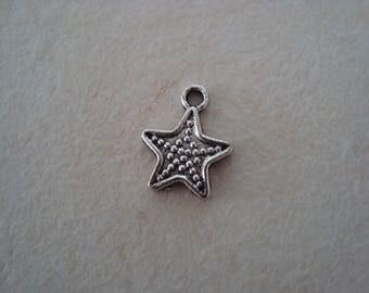 Silver metal star charm