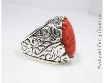 """Mixed ring """"Prince"""" red version"""