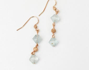 Aquamarine dangle earrings