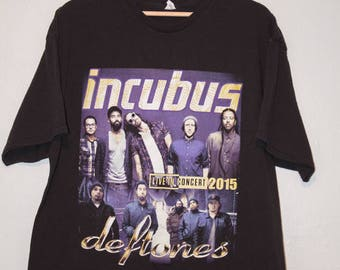 Incubus & Deftone 2015 Tour Shirt XL