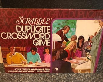Vintage Scrabble Duplicate Crossword Game