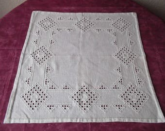 Beautiful doily/small tablecloth with Hardanger embroidery