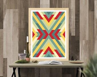 Aztec Print - Wall Art Decor - Digital Download