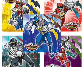 """25 Power Rangers Dino Charge Stickers, 2.5"""" x 2.5"""" Each"""
