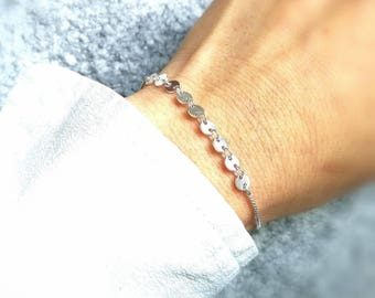 silver bracelet solid coin