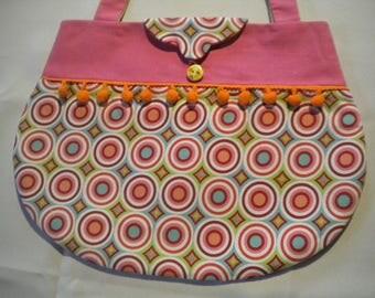 Bag retro PomPoms circles