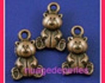 3 charms pendant Teddy bear Teddy bear