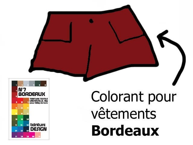 colorant teinture bordeaux tissu textile pour vetements. Black Bedroom Furniture Sets. Home Design Ideas