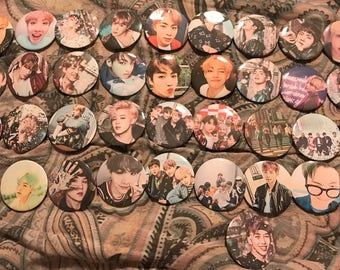 BTS pin back buttons