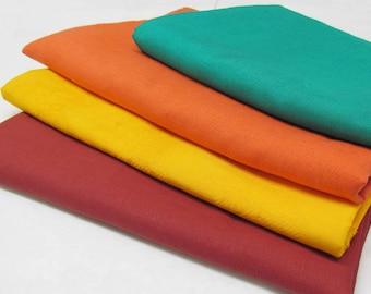 Summer Set of four fabrics-linen and silk Shantung