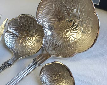 6 Piece silver plated serving set