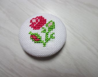 """Brooch """"Rose"""" in different colors"""