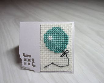 "Mini Card embroidered place ""Green ball"" brand"