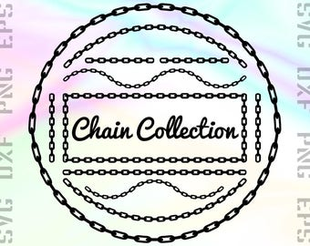 Chain SVG Files - Chain Clipart - Chain Cricut Files - Chain Dxf Files - Chain Cut Files - Chain Png - Chain Cutting File - Svg, Dxf, Png