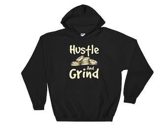 Hustle And Grind Money Graphic Urban Style Streetwear Fashion Unisex Hooded Sweatshirt Hoodie