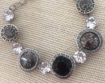 Black Swarovski Bracelet