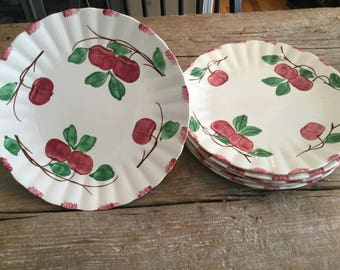 Blue Ridge Southern Potteries Dinner Plate|Autumn Apples DinnerPlate