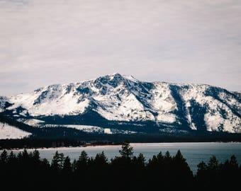 Lake Tahoe Winter Mountains (8X10 Print)