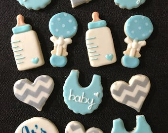 Baby Shower Decorated Cookies - One Dozen