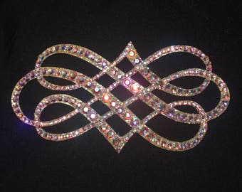Beautiful laser cut rhinestone hair jewelry