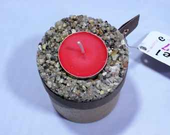 Concrete Candle Holder Pebble_Inka