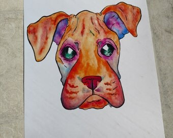 Boxer Painting Print