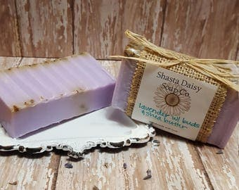 Lavender Essential Oil Shea Butter Soap w/Buds