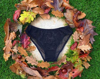 Knickers-Black, lace, full coverage, knickers, panty, briefs, lingerie, underwear, undies, skivvies