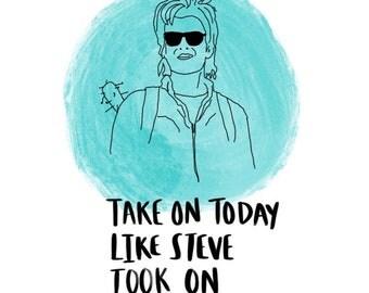 Steve from Stranger Things print