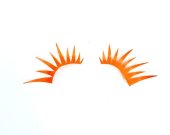 Neon Orange UV Reactive Chimera Lashes
