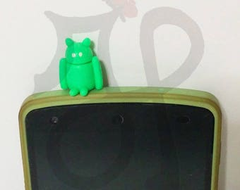 Fluorescent green Android for smartphones