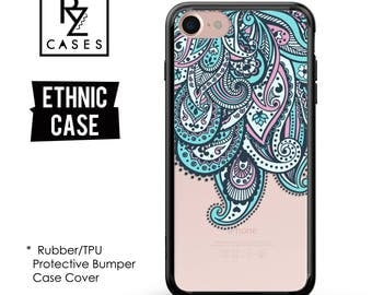 Ethnic Case, Boho Phone Case, Paisley Phone Case, Floral Case, iPhone 7, iPhone 6, Mandala, iPhone 7 Plus Case, Rubber, Bumper Case