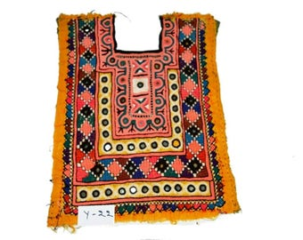 Banjara Gypse Fabric Neck Yoke vintage afghani apllique Patch