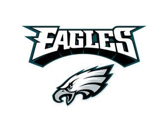 Football logo svg Eagles svg Philadelphia Eagles svg Logo svg Vinyl Decal Heat Transfer Iron on