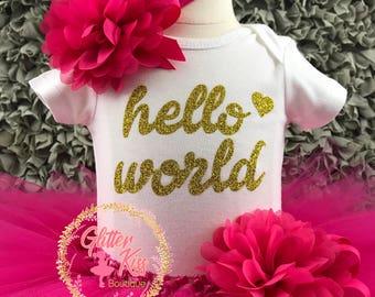 Hello World Tutu Outfit