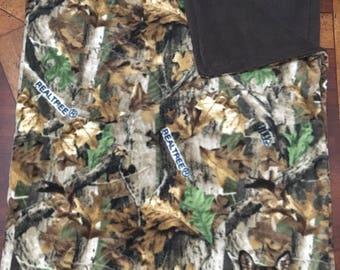 RealTree Camo Deer Adult Fleece Blanket