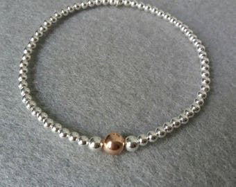 sterling silver rose gold bracelet