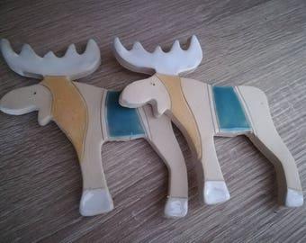Ceramic Reindeer (2 pcs)