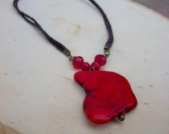 Orange Stone Necklace