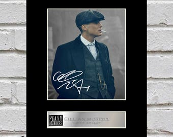 Cillian Murphy - Tommy Shelby 10x8 Mounted Signed Photo Print Peaky Blinders