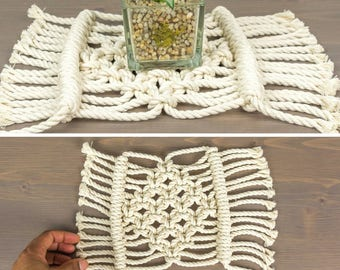 Table Decorations, Decor for Table, Table Decor, Macrame Decoration, Macrame Table Mat, Macrame Centre Piece, Small Table Decoration