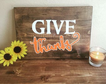 Giive Thanks Home Decor Sign