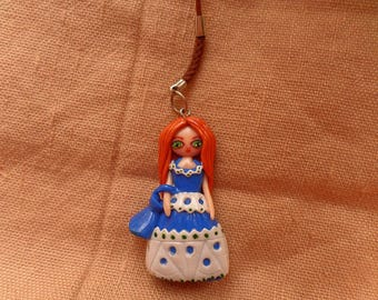 Kawaii Clay Charm, Kawaii Charm Keychain, Kawaii Phone Charm, Princess Phone Charm, Doll Planner Charm, Anime Charm, Princess Doll Charm