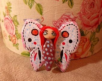 Butterfly girl, kawaii butterfly, cute butterfly girl, adorable butterfly, Butterfly creature, girl with wings, white butterfly girl