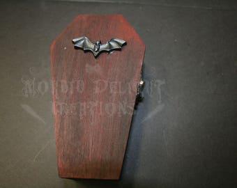 Bat Coffin Trinket Box