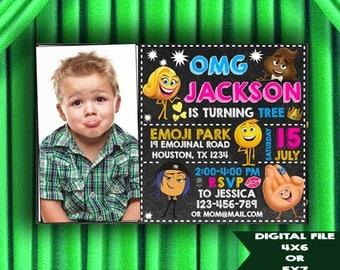 Emoji Invitation, Emoji Birthday, Emoji Birthday Invitations, Emoji Party, Emoji Printable, Emoji Invitations, Emoji Birthday Card